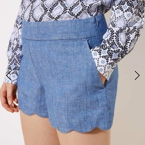 🥂2 for $20!🥂 Loft chambray Riviera shorts